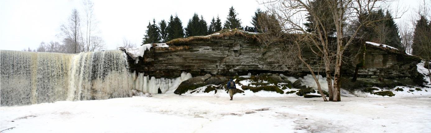 Jägala joa lõunapoolne astang (läbilõike ülemine osa) (foto: S. Soomer, 2013).