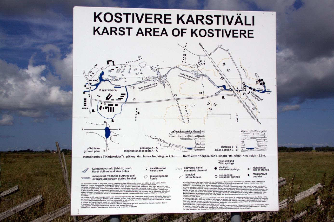 Kostivere karstivälja asendiplaan kohapeal (foto: T. Meidla, 2013).